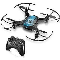 GBlife RC Drone Enfant Mini Quadcopter Avion avec Télécommande à 2,4 GHz Hélicoptère avec 3 Niveaux de Vitesse, Mode sans Tête, Rotation à 360 Degrés, Retour d'Une-clé Cadeau de Noël Agréable