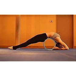 ZUWIT Rueda de ejercicio de yoga para mejorar columna flexibilidad y liberación muscular tensión y estirar y abrir el pecho, hombros, espalda, caderas y del psoas. Desafío en cientos de posturas de yoga!