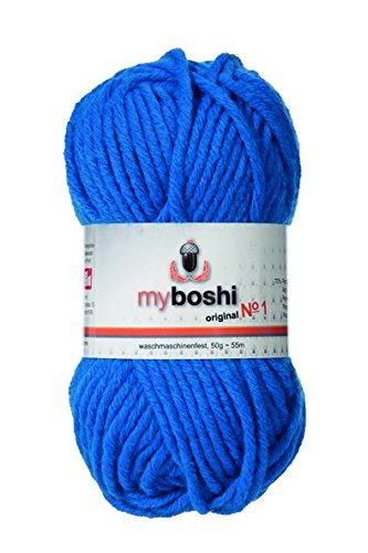myboshi Häkel-/Strickgarn, Wolle-Mix, meeresblau
