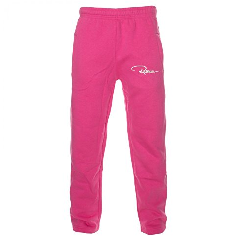 Redrum Plain Trainingshose Jogginghose sweatpants fitness Sport streetwear (M, Pink)