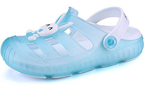 Gaatpot Zuecos para Unisex Niños Sandalia Zapatos Zapatillas Chanclas de Playa de Verano Azul (Sky) 22