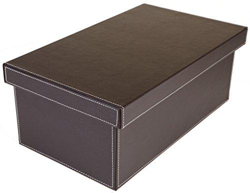 osco-faux-leather-dvd-storage-box-brown