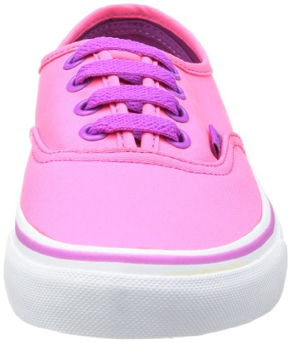 Vans U Authentic - Baskets Mode Mixte Adulte Rose (Neon Pink/Pur)