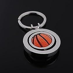 llavero Regalos creativos manera exquisita giratoria de metal del anillo dominante del baloncesto ( Tamaño : 47*37*5mm )