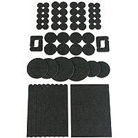 The Felt Store Selección de Almohadillas Protectores, Kit con 64 Piezas, marrón, protección Suelos mesas sillas - Made in Kanada