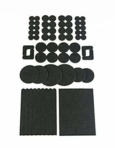 Brown Heavy Duty Felt Pads Sample Kit - 64 Pcs, as floor protector for case legs, table legs, chair legs - Made in