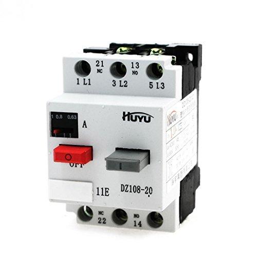 DealMux 3 Phase ON/OFF Button NO+NC Motor Circuit Breaker 1A 6kV DZ108-20