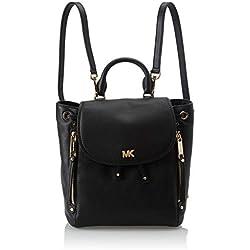 Michael Kors - Evie Sm Backpack, Bolsos mochila Mujer, Negro (Black), 12.7x26.7x21.6 cm (B x H T)