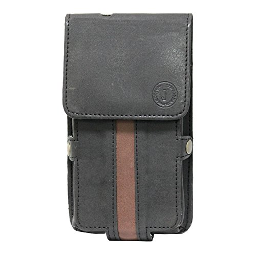 Jo Jo A6 Nillofer Series Leather Pouch Holster Case For LG Google Nexus 5 (16GB) Black Brown
