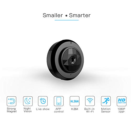 BESTSUGER IP-Kamera, Mini Wireless HD 1080P Indoor Home Small Nanny Cam Security Cameras Battery Powered with Motion Detection (Motion-detection-kamera-batterie)