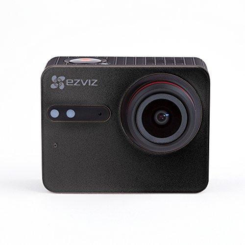 EZVIZ S5 Plus Sports Camera, 4k Video 12 Mp Photo, Touch Screen, Wifi e Ble 4.0, 40m Impermeabile con Custodia