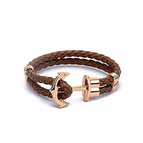 unisex-in-pelle-intrecciata-anchor-bracciale-brown