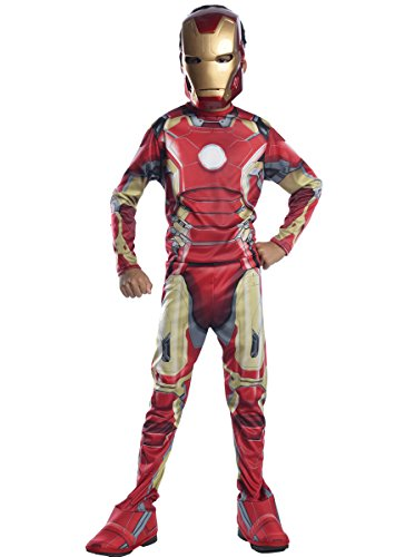 Ironman Kostüm Kid - Iron Man Mark 43 Kostüm, für Kinder, Avengers Age of Ultron Outfit, groß, Alter 8-10, Höhe 142,2-152,4 cm