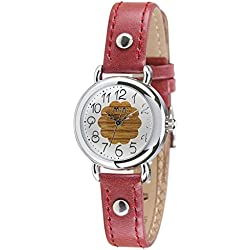 Fashion Luxury Leather Strap Quartz Women Girl Wrist Watch,Red