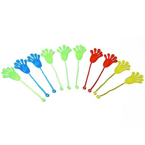Preisvergleich Produktbild Merssavo 10 Stück Vinyl Kinder Party Supply Gunst Mini Neuheit Glitter klebrige Hände schlagen matschig Palm Spielzeug
