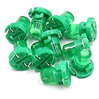sourcingmap 10pz T4.2 LED verde pannello cruscotto manometro Lampadina luce per interni auto