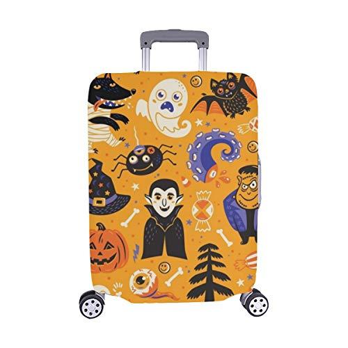 (Nur abdecken) Happy Halloween Set Charaktere Icons Staubschutz Trolley Protector case Reisegepäck Beschützer Koffer Cover 28,5 X 20,5 Zoll