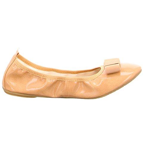 Tamaris - 22125, Ballerine Donna NUDE PATENT 253