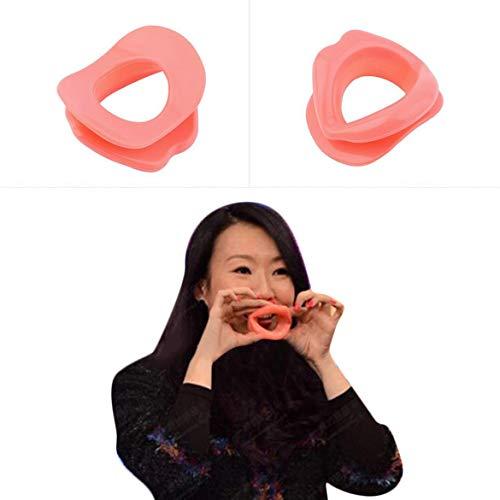 1pcs silicone visage amincissante visage exerciseur, lèvres Entraîneur exerciseur Oral, exercice Embouchure Soins du visage en gros Drop Shipping (Rose)