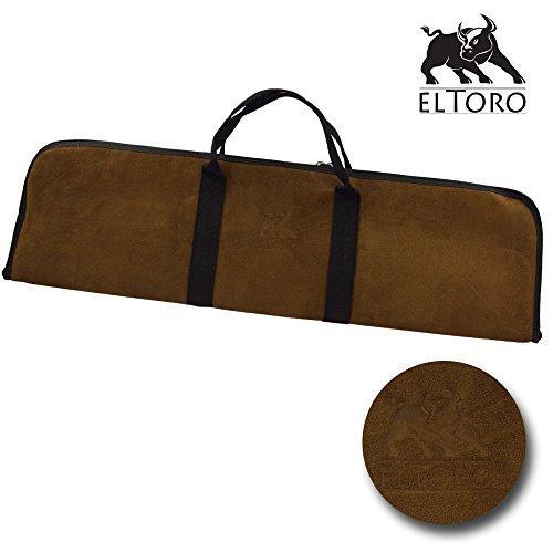 elTORO Tasche aus echtem Leder - Velour - Farbe: Kaffee