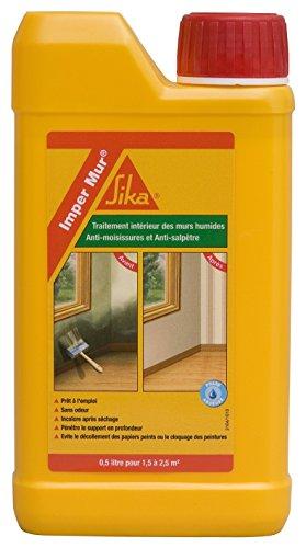 Imper Mur, Résine pour traitement des murs humides - anti salpêtre, 500ml, Transparent
