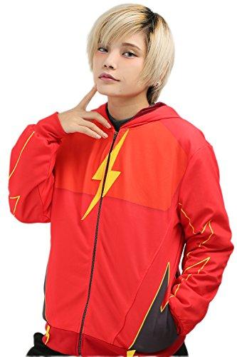 Cosplay Hoodie Drama Kapuzepullover Unisex Kapuzensweatshirt mit Reißverschluss für Jugendliche Kostüm Accessories (Kostüm Flash Zoom)