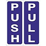 CVANU Push Pull Sign Sticker (Pack of2)
