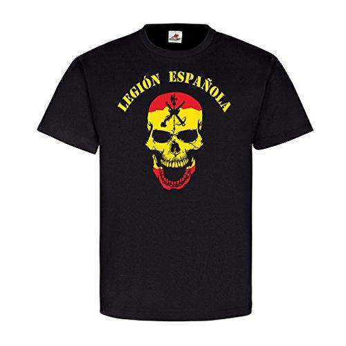 legion-espanola-viva-la-muerta-legion-espana-fremde-legion-calavera-espana-bandera-de-camiseta-6616-