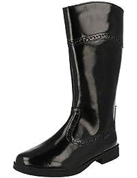 798a8cd636ca3 Girls Clarks Knee Length Fashion Boots Sami Twist Black Patent Size 12F