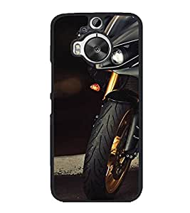 PrintVisa Designer Back Case Cover for HTC One M9 Plus :: HTC One M9+ :: HTC One M9+ Supreme Camera (Black Bike Automobile Tyre Front View)