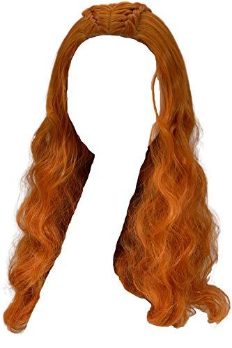 Halloween Perücke TV Wig Cosplay Kostüm Costume Lange Lockig Welliges Haar Zubehör Hair Accessories für Mädchen