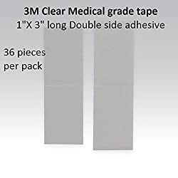 3m Clear 1522 Tape 1 Straight = Double side adhesive =1 pack of 36pcs