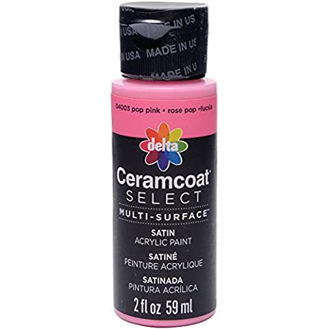 Plaid : Delta Ceramcoat Select Peinture multi-surfaces Pop Rose 15 ml
