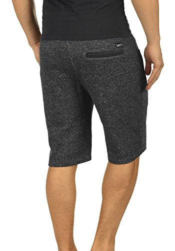 BLEND Rigins Herren Sweat-Shorts kurze Hose Sport-Shorts aus 100% Baumwolle Black (70155)