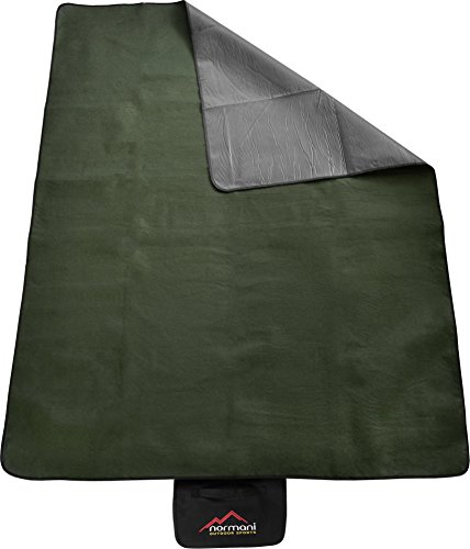 Outdoor Campingdecke Fleece mit Tragegriff wasserdicht isoliert Farbe Olive