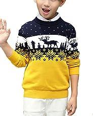 Shengwan Suéter Navidad Niños Sudadera Invierno Jerseys de Punto Traje de Navidad Pullover