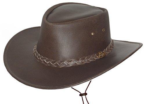 Black Jungle Cowboyhut für Kinder, Hut aus Rindsleder mit Kinnriemen, Kinderhut Westernhut für...