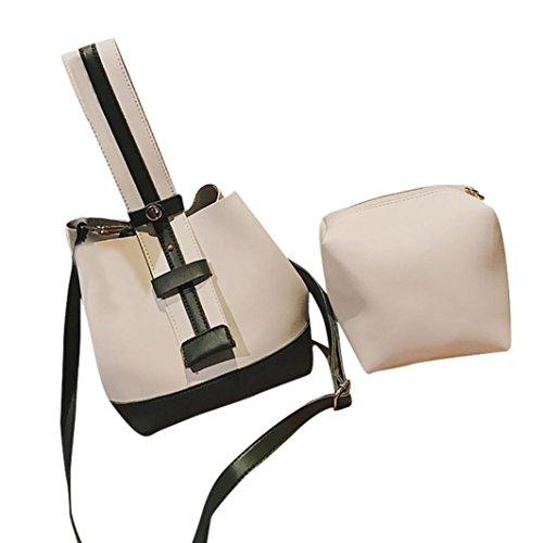81b9ed17cbaf9 Handtasche Kolylong® 1 Set 2 PCs Damen Elegant Schultertasche PU Leder  Vintage Umhängetasche Mode Groß