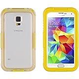 JAMMYLIZARD | Salamander Wasserdichte Schneedichte Handyhülle für Samsung Galaxy S5 / S5 Neo, GELB