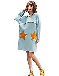 LLFFDC Camisón Damas de Algodón de Manga Larga Casual Suelta Pijamas Modelos de Primavera ...