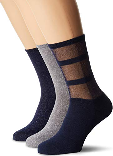 Tommy Hilfiger Damen Socken TH Women GIFTBOX 3P, 3er Pack, Blau (Midnight Blue 563), 39/42