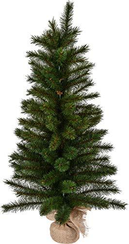 matrasa Mini Weihnachtsbaum - Kleiner Bonsai Christbaum Tannenbaum - künstlich - 90 cm