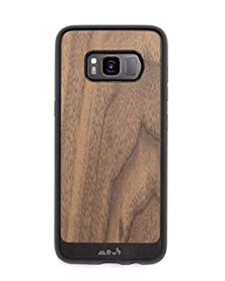 Mous Protective Samsung Case Galaxy S8 Carbon Fibre/Leather/Walnut
