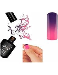 Nagellack Semi-Permanent, Thermo-Gel, UV-Gel, violett, lila/rosa R.6130