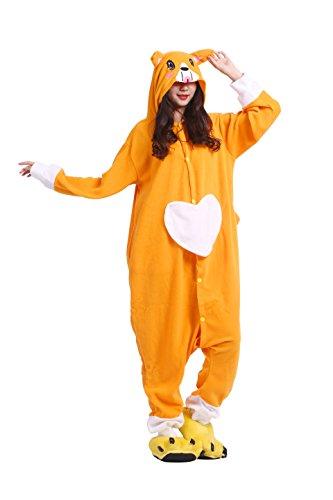 YUWELL Unisexe Kigurumi Costume Anime Animal Cosplay Hoodie Onesie Pyjama Adulte Cartoon Party Halloween Sleepwear (Chien Monoculaire) Taille M