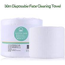 1 rollo de 30M cara desechable de algodón limpieza de viaje toalla de toalla facial no