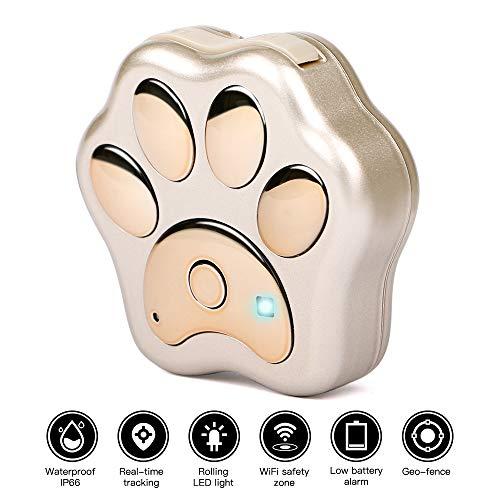 Autopmall Localizador de posicionamiento de Perro GPS para Mascotas WiFi antipérdida Geo-Fence...