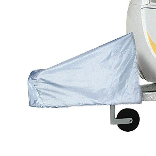 Aolvo Wohnmobil-Anhängevorrichtung, Universal Caravan Trailer-Wasserdicht Regendicht Schutzhülle SUN schmutzabweisend Protecter grau