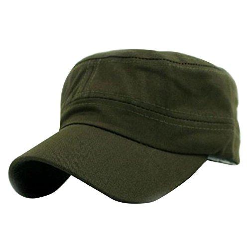 TUDUZ Klassische Plain Vintage Army Military Cadet Stil Baumwolle Cap Hut Einstellbar