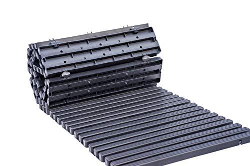UPP Rollweg Gartenplatten | Rollbares Rasengitter und Weg für Beete und Garten | Wetterfest und bis 200 kg Belastbar [1,5 m]